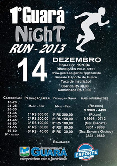 1� Guar� NIght Run 2013